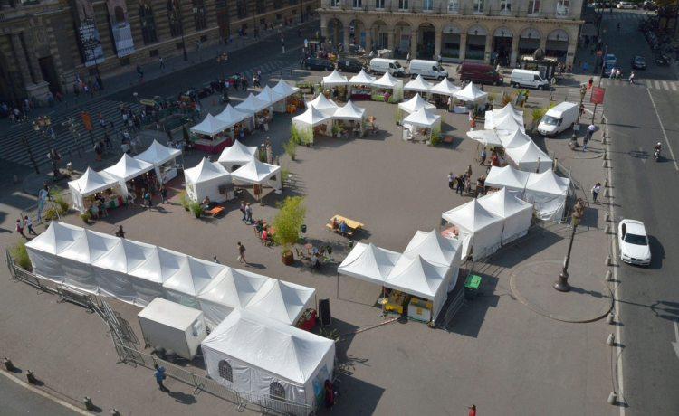 tentes pliantes V3 garden du marché du Louvre Paris