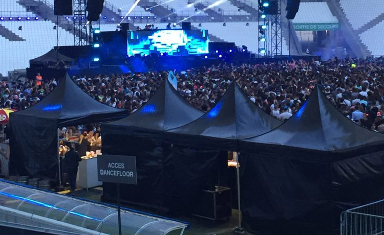 tentes pliantes V3 garden au summer stadium festival