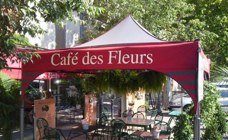 tonnelle pliante V2 du café des fleurs